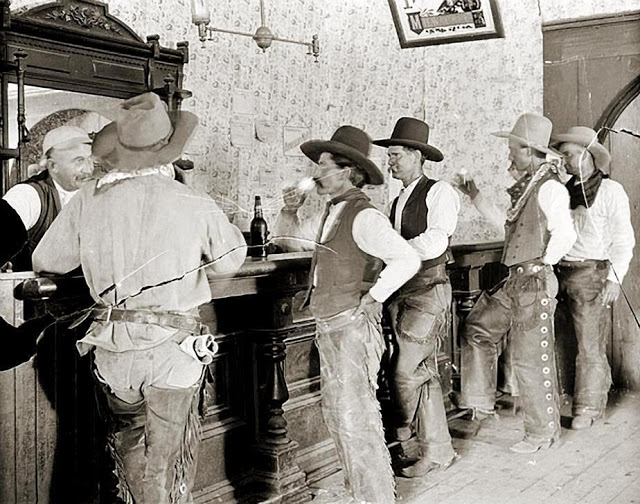 Cowboys at Old West Saloons (1)